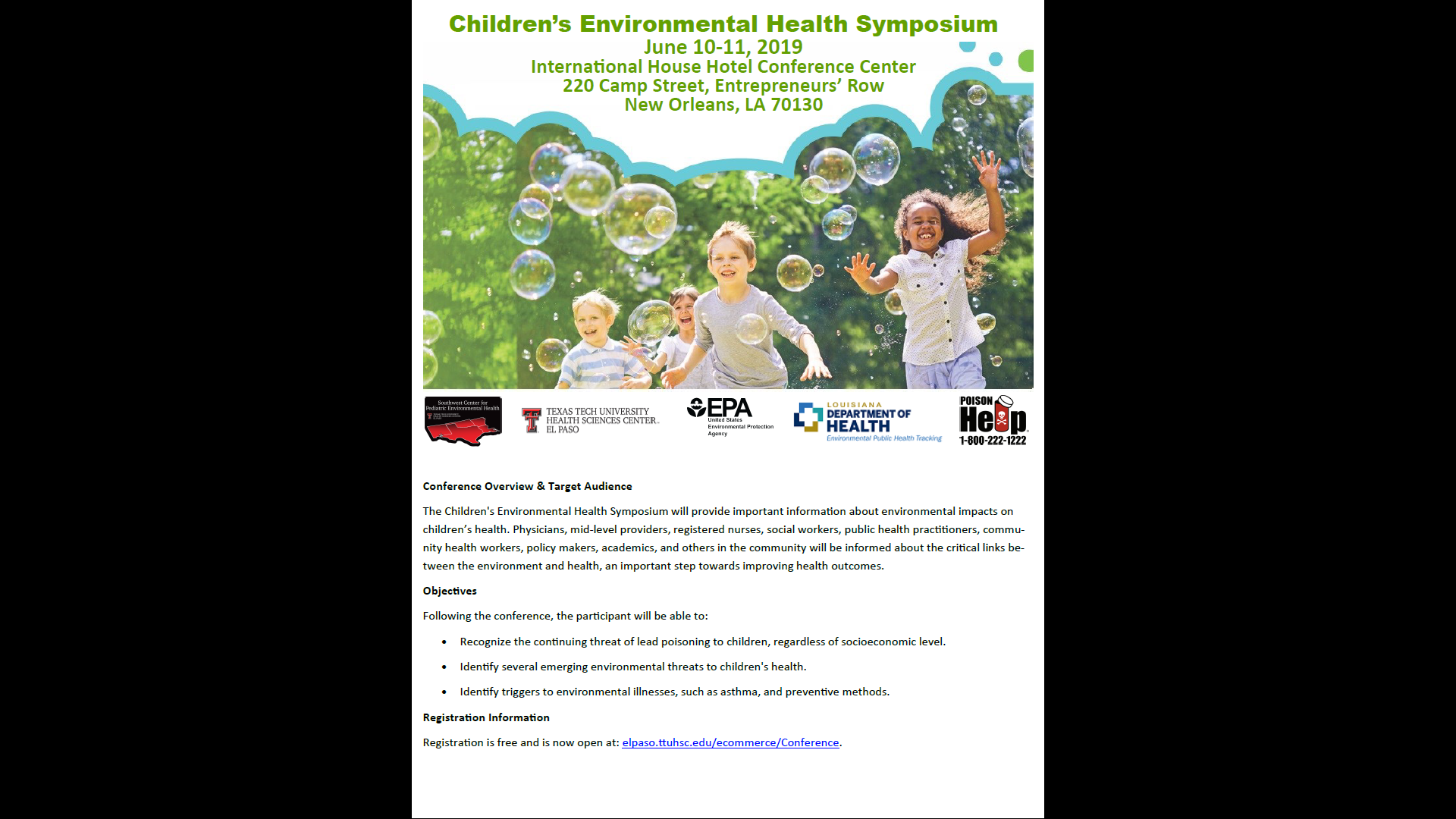 The Children's Environmental Health Symposium