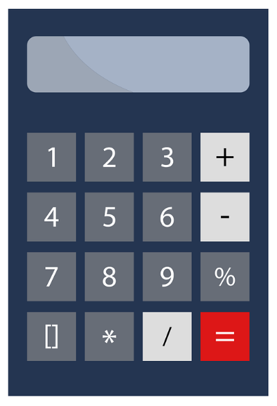 Calculator image linked to tuition and fee estimator page