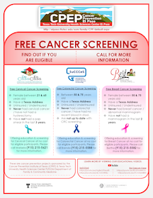 Flyer free cancer screening