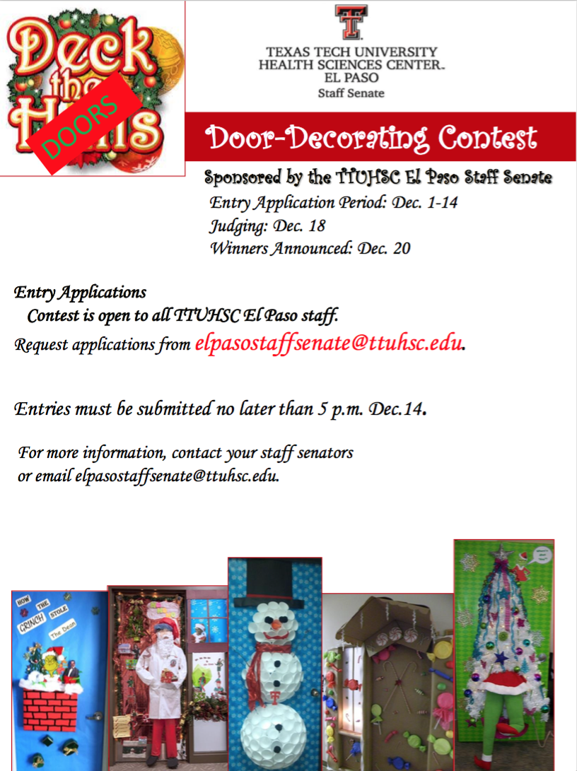 Ttuhsc El Paso Staff Senate Holiday Door Decorating Contest